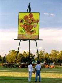 Van Gogh Sunflower Painting - Mackay Tourism