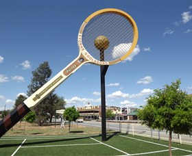 Barellans Big Tennis Racquet - Mackay Tourism