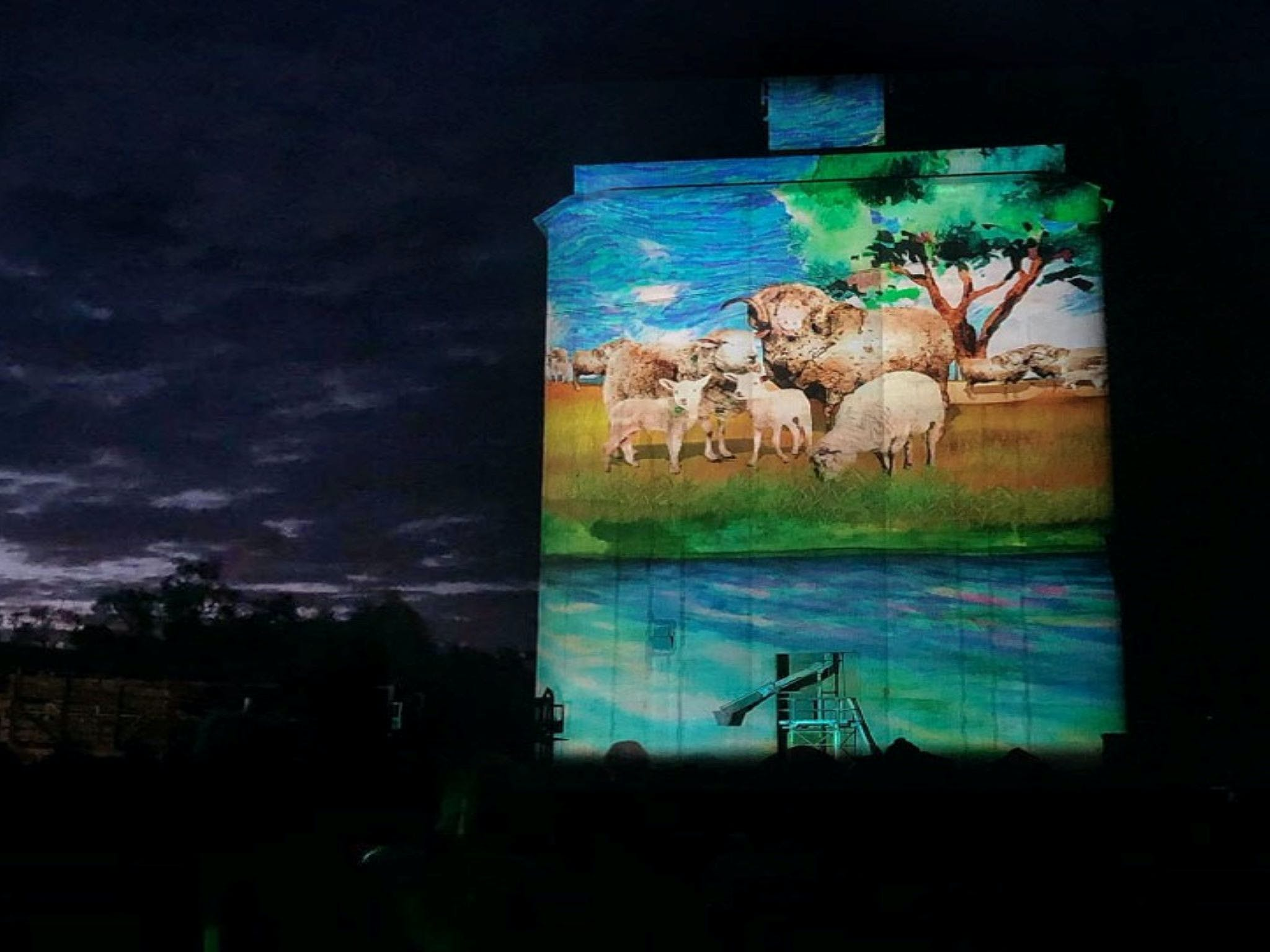 Quorn Silo Light Show - Mackay Tourism