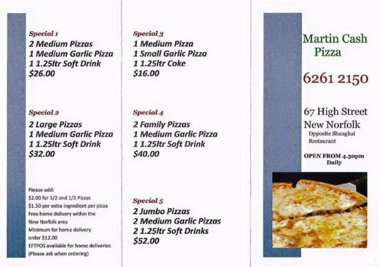 Martin Cash Pizza - Mackay Tourism
